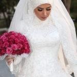 صور فساتين زفاف محجبات موضه 2019