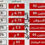 اسعار السولار بعد الزياده الجمعه 5/7/2019