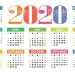 التقويم الميلادي 2020